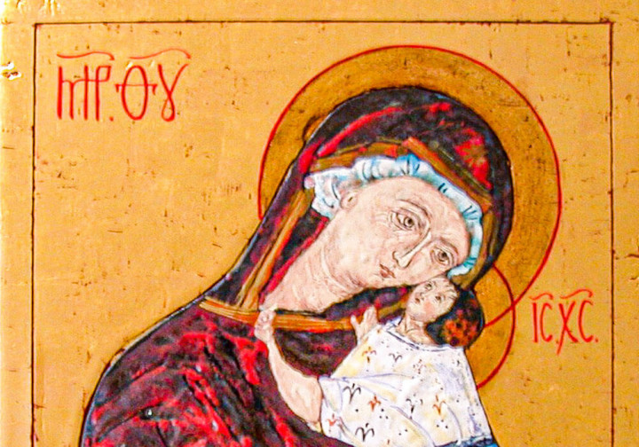 Madonna con bambino che indica dolcezza – Icona Russa