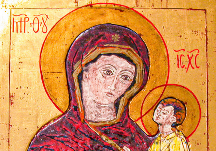 Madonna con bambino che indica la via verso la salvezza – Icona Russa